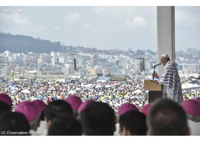 ĐTC giảng trong thánh lễ tại Công viên 200 Năm trong thủ đô Quito của Ecuador