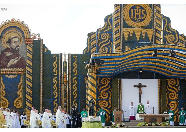 Pope celebrated mass in Paraguay
