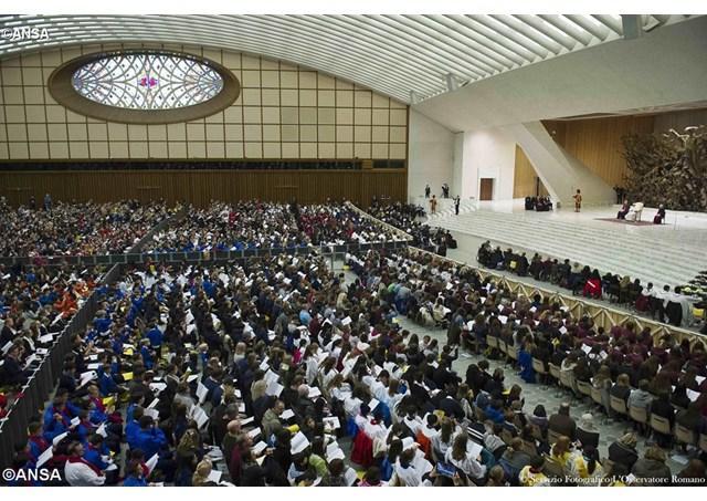 Đức Thánh Cha gặp gỡ 6 ngàn thành viên các ca đoàn trẻ