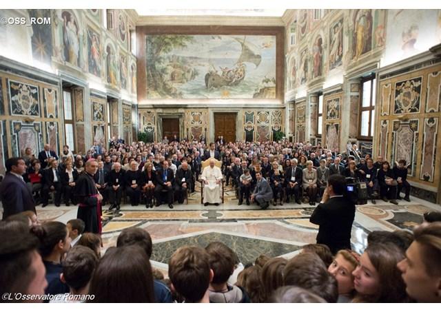 Đức Thánh Cha tiếp kiến Hiệp Hội Phụ Huynh các trường Công Giáo